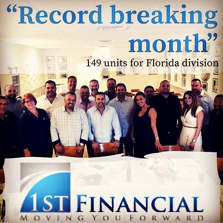 Record Breaking month- 1st Financial