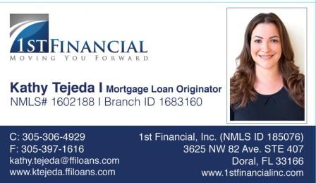 Kathy Tejeda Business card